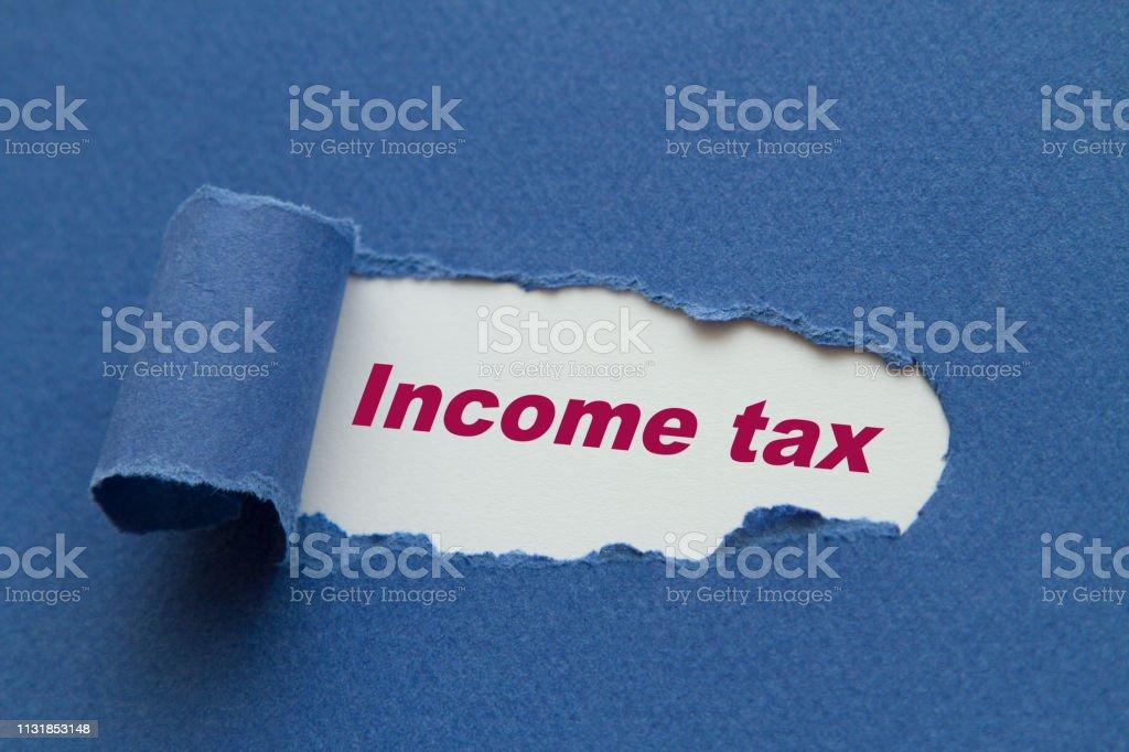 Gelir vergisi stok fotoğrafı