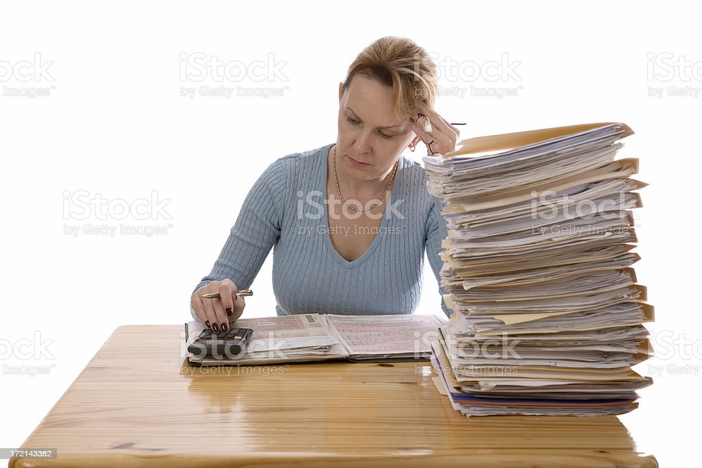 Income tax preparation royalty-free stock photo