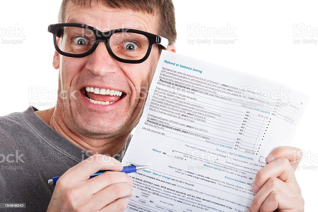 Income Tax Refund stock photo