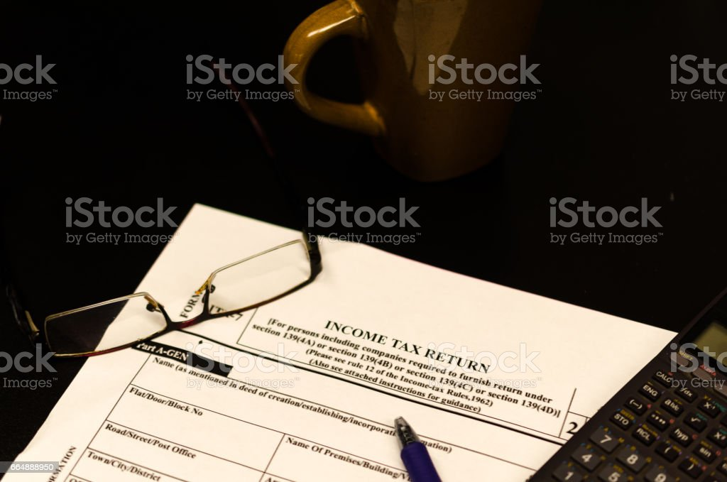 Income tax return filing foto stock royalty-free