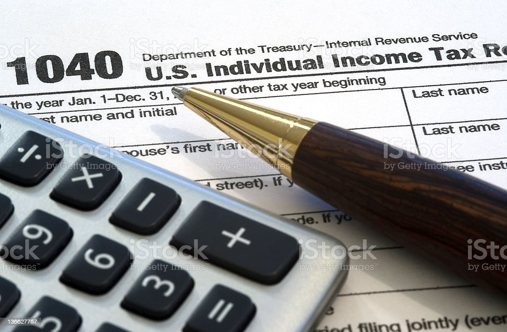 Income Taxes stock photo