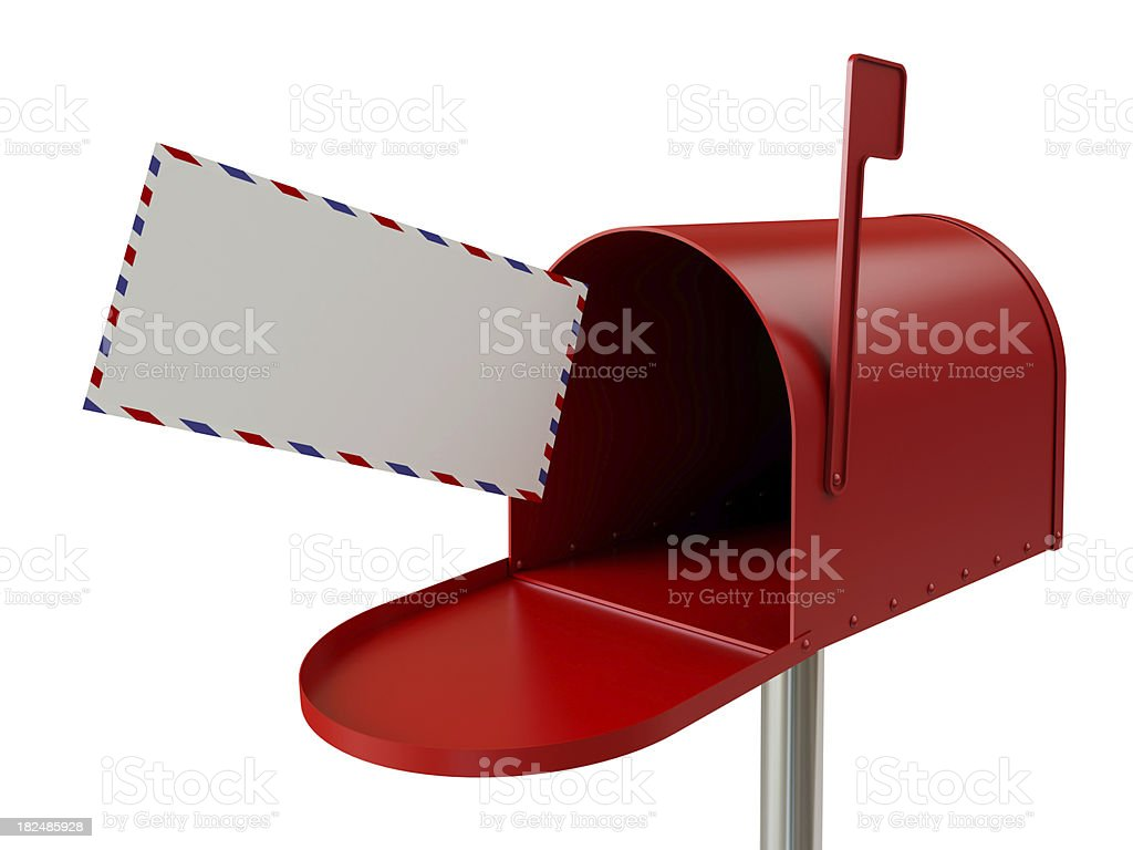 Incoming Mail royalty-free stock photo