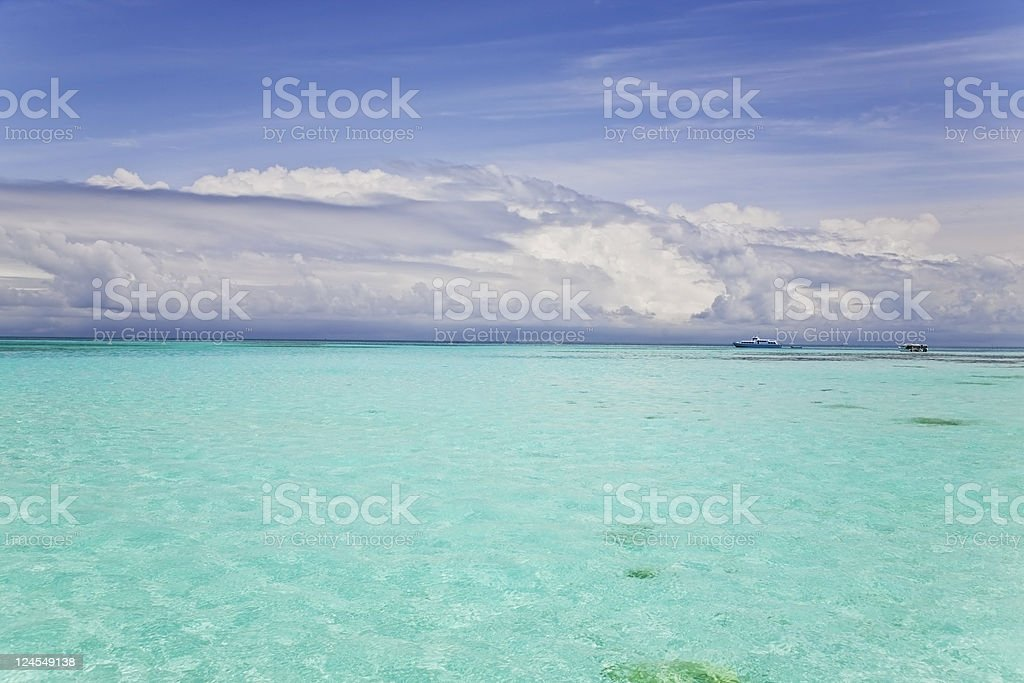 incoming rain storm above tropical sea royalty-free stock photo