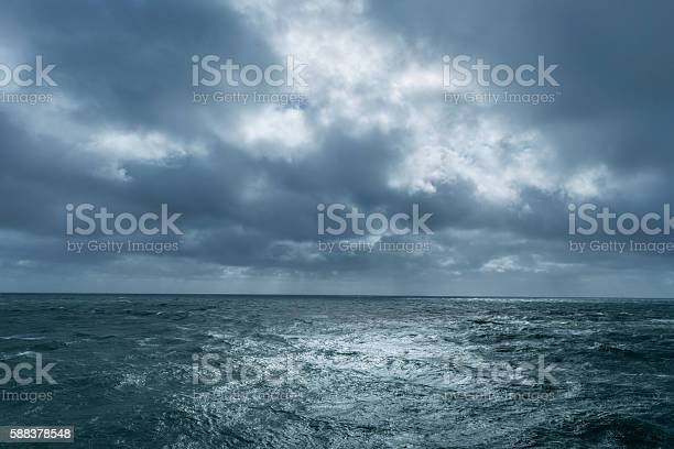 Photo of Incoming storm over ocean