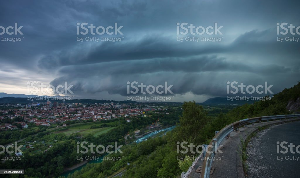 Incoming Storm stock photo