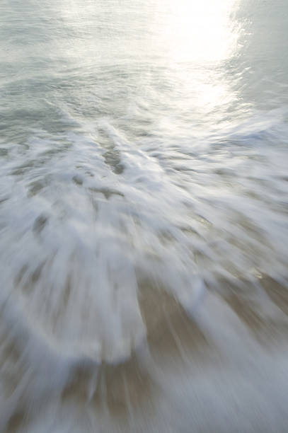 Incoming Tide of the Ocean stock photo