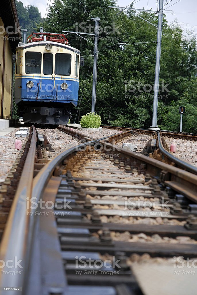 incoming train royalty-free stock photo