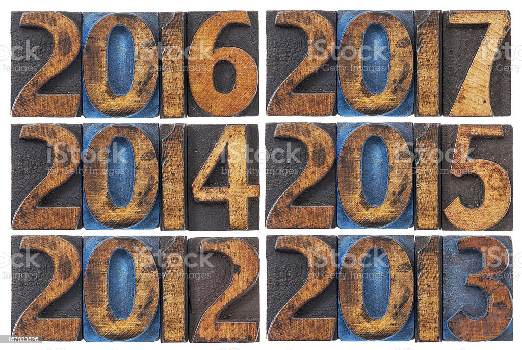 incoming years 2012-2017 royalty-free stock photo