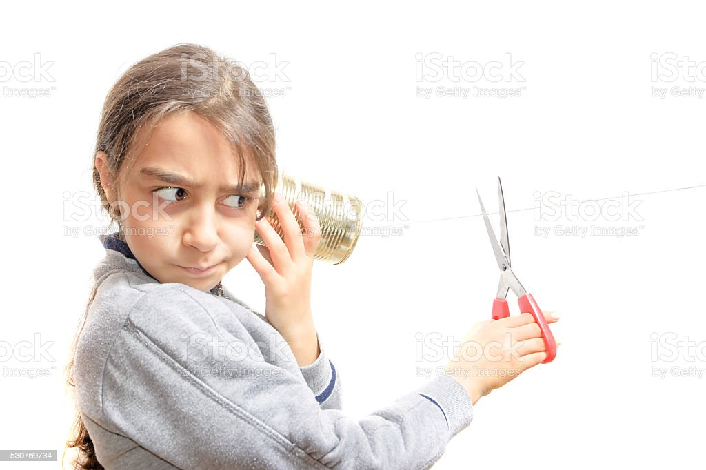 incommunicability: a child who does not want to keep listening stock photo