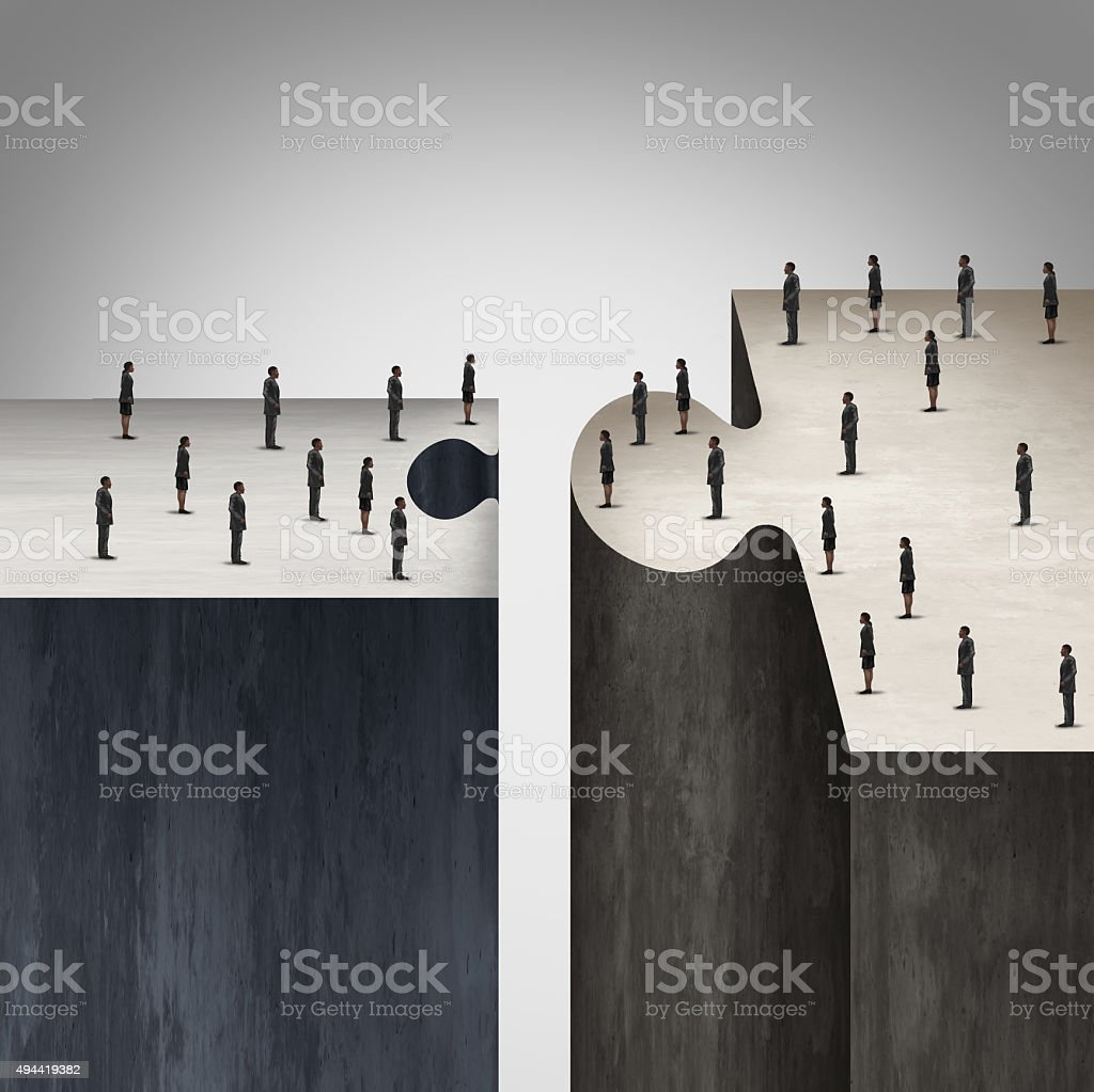Incompatible Business Strategy stock photo