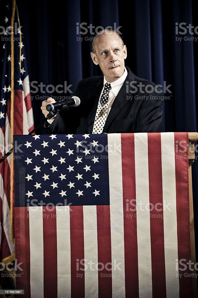 Incompetent Politician royalty-free stock photo