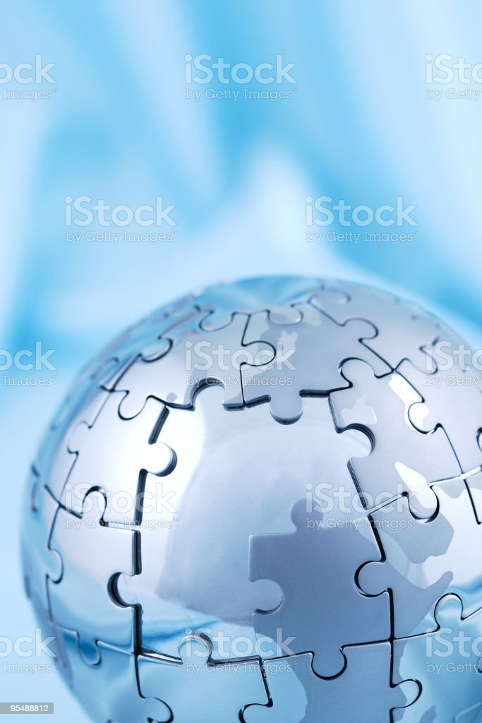 Incomplete globe puzzle royalty-free stock photo