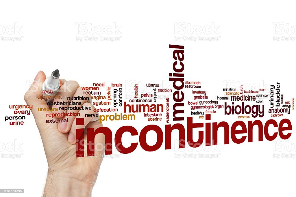 Incontinence word cloud stock photo