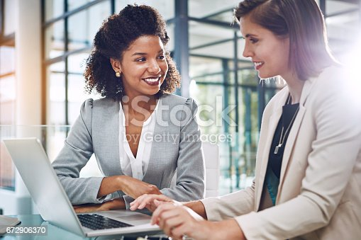 istock Incorporating technology into their collaboration 672906370