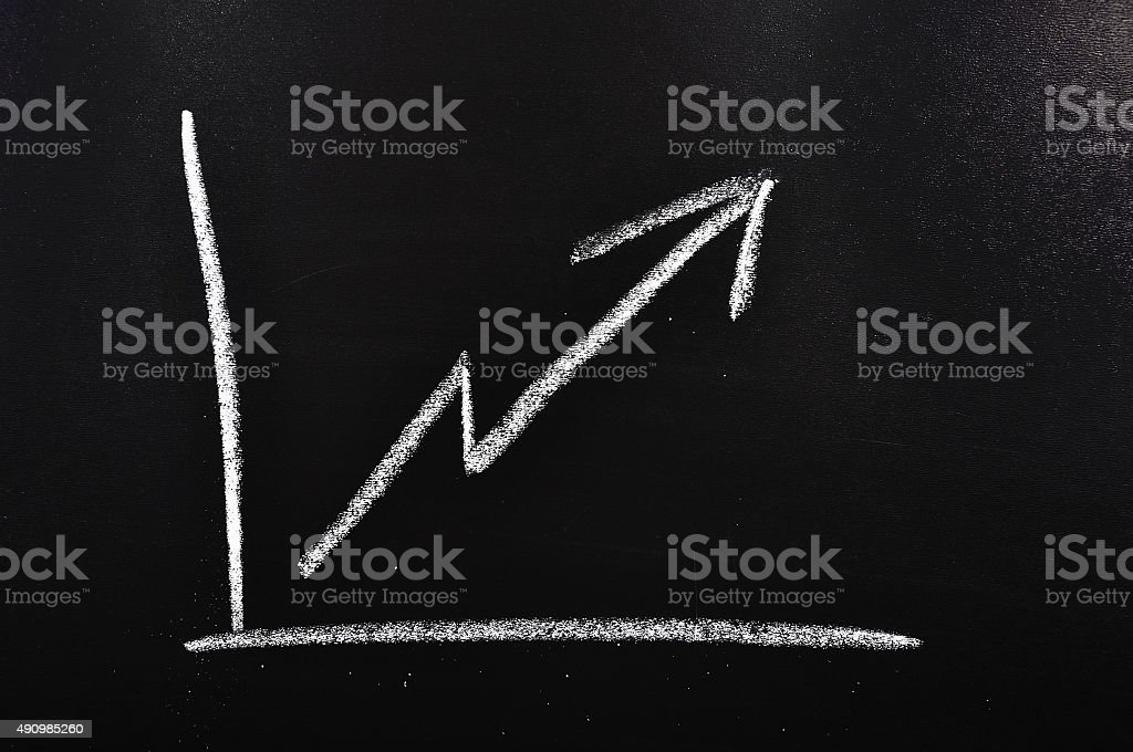 Increase chart stock photo