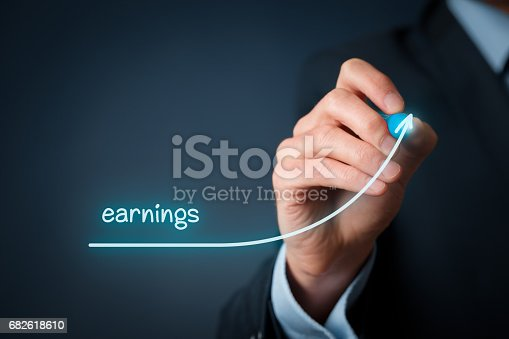 509469434istockphoto Increase earnings concept 682618610