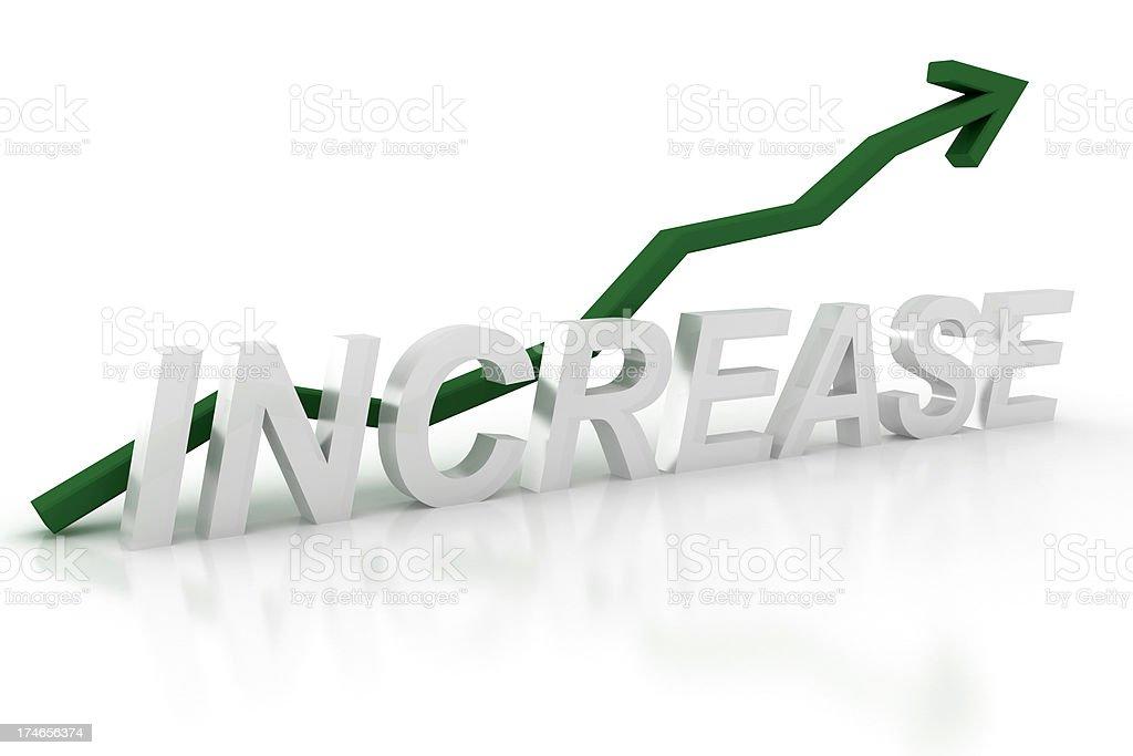 Increase - graph royalty-free stock photo