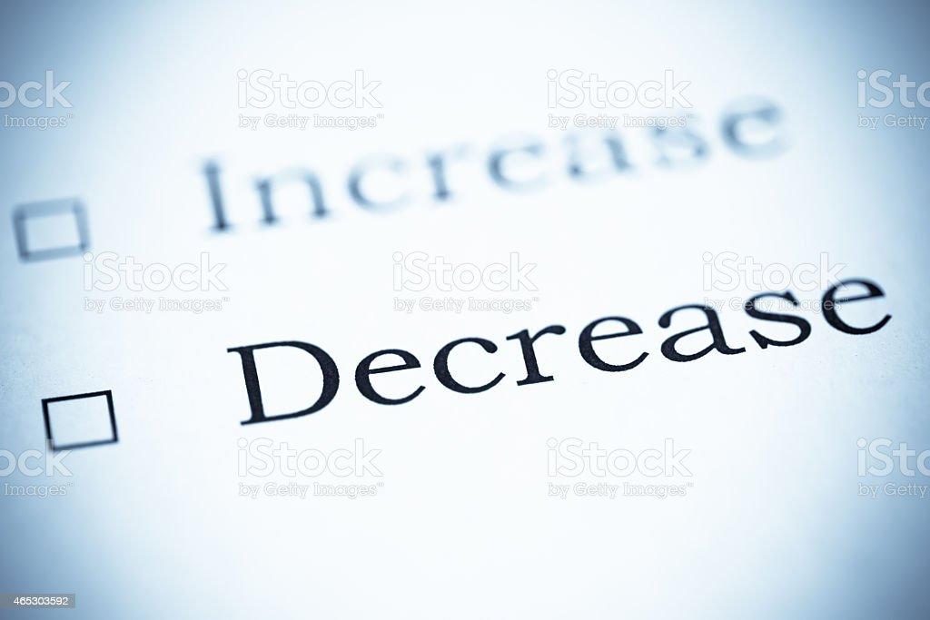 Increase or Decrease, Selenium Tone stock photo