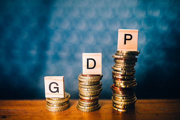 gdp increase - bruto binnenlands product stockfoto's en -beelden