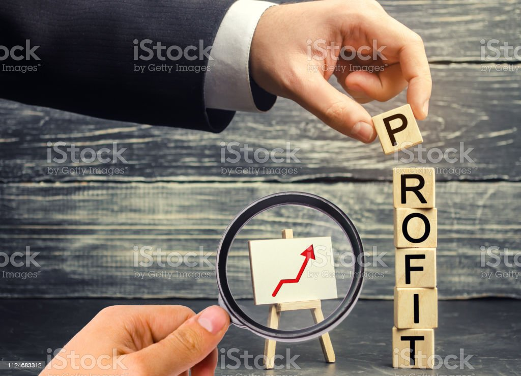 Increase profits and investment fund. Concept of business success,...