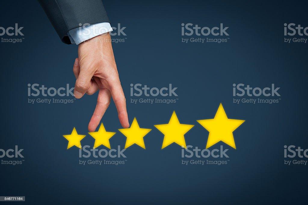 Increase rating stock photo