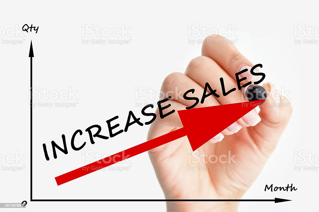 Increase sales graph stock photo