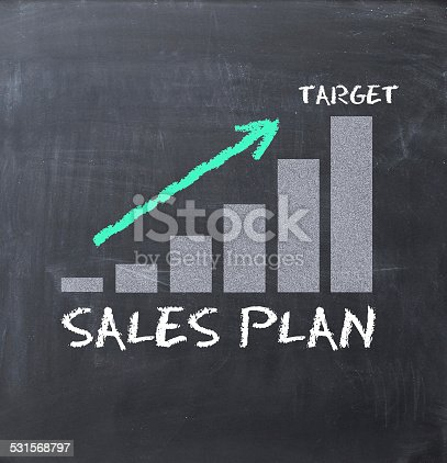 465048456istockphoto Increase sales text with business graph 531568797
