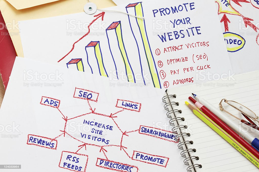 Increase site visitor stock photo