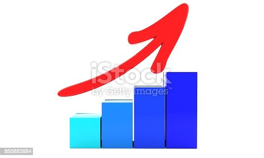 istock Increase symbol of background, 3d 855883684