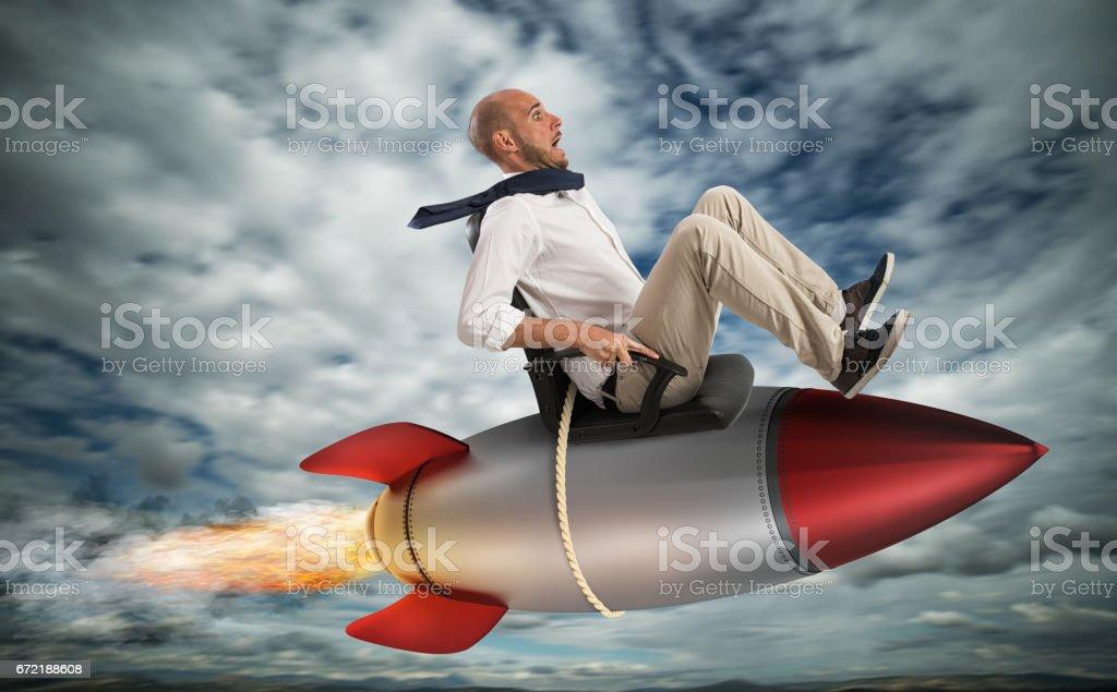 Increase the climb to success stock photo
