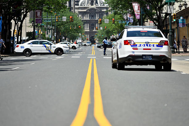 Increased Police Visibility at Philly Pride Parade stock photo
