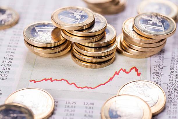 Increasing exchange rate stock photo