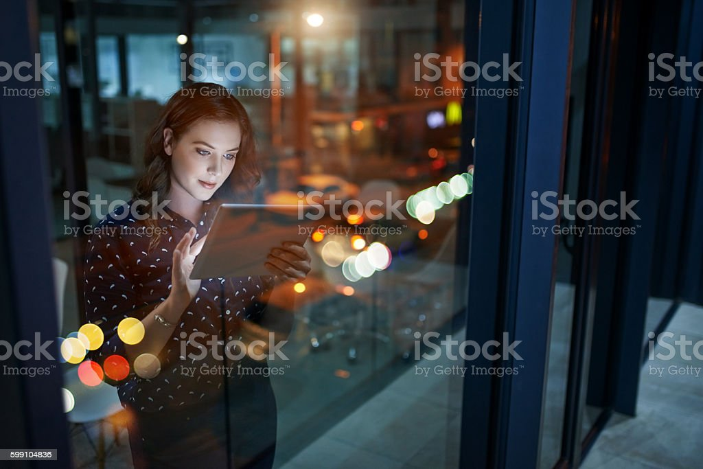 Increasing her efforts to maximise her success stock photo