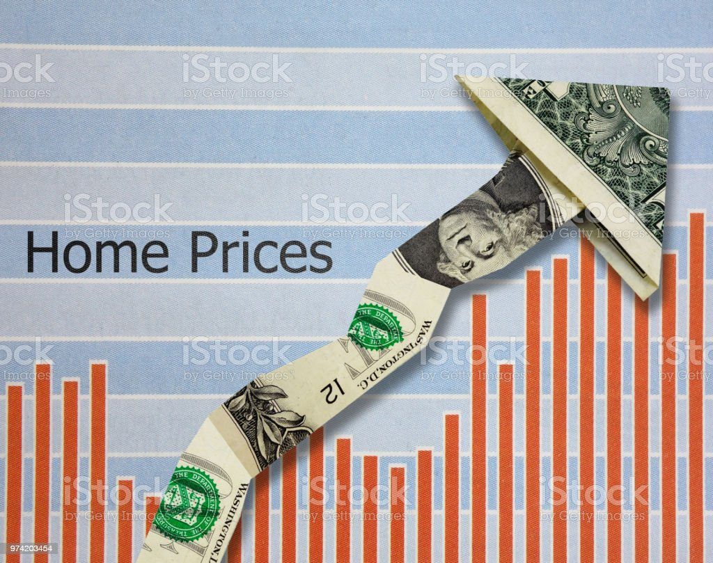 Increasing Home Prices stock photo