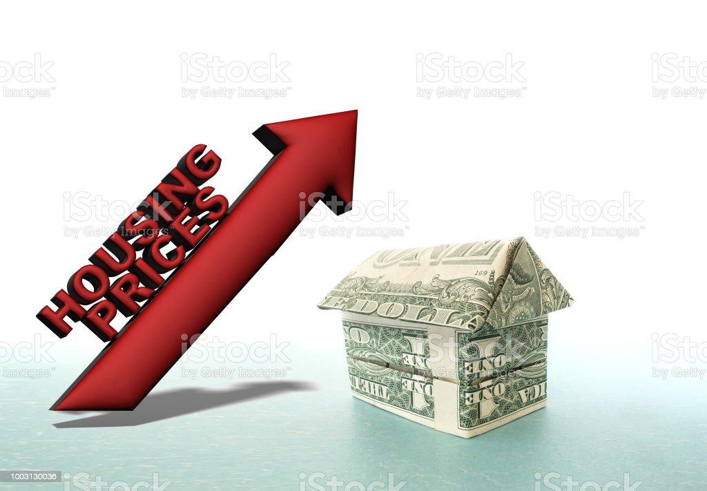 Increasing housing prices stock photo
