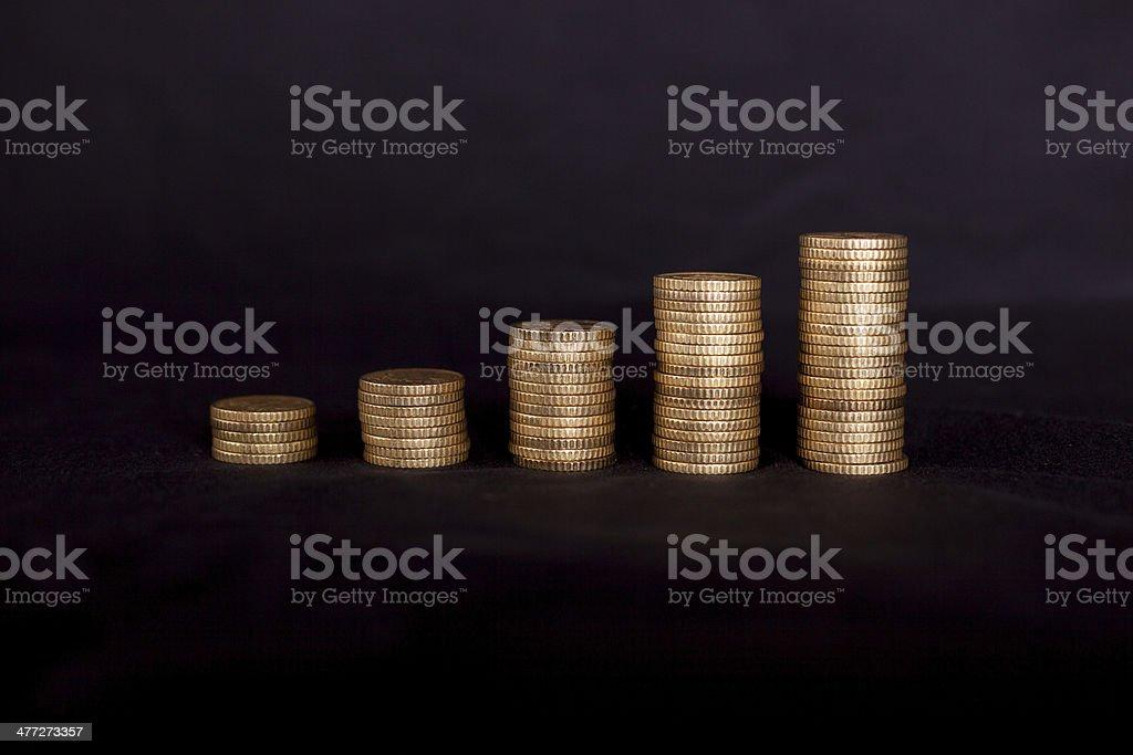 Increasing of money stock photo