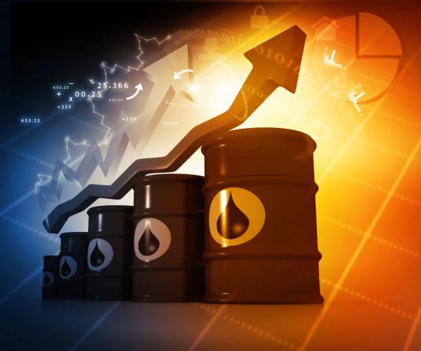 El aumento del precio del petróleo - foto de stock