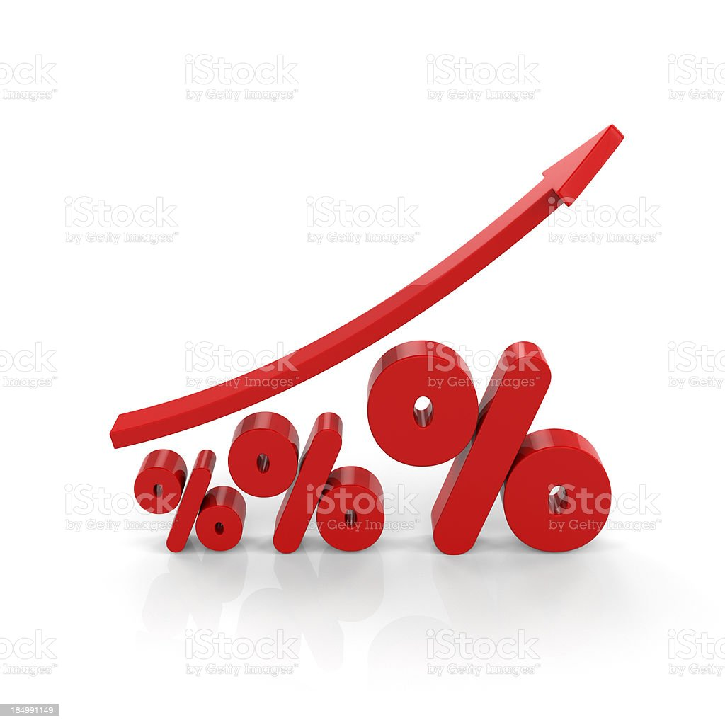 Increasing Percentages royalty-free stock photo