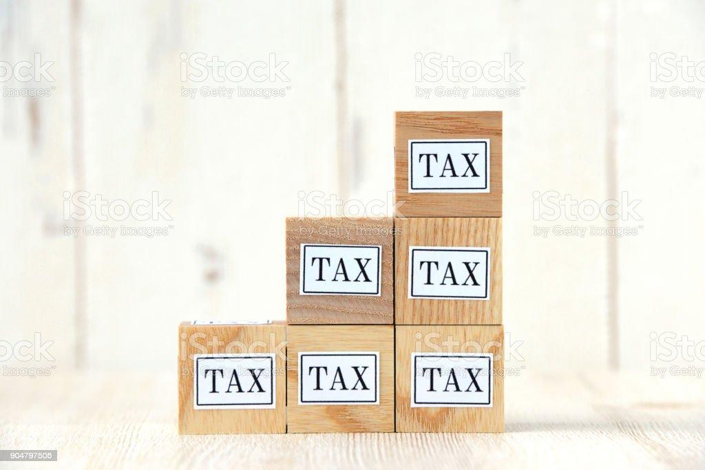 Increasing Tax concepts stock photo