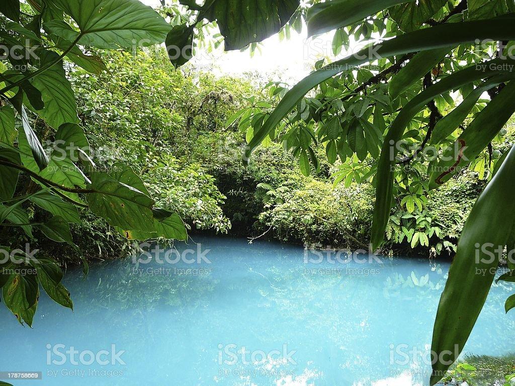 Incredible blue lagoon stock photo