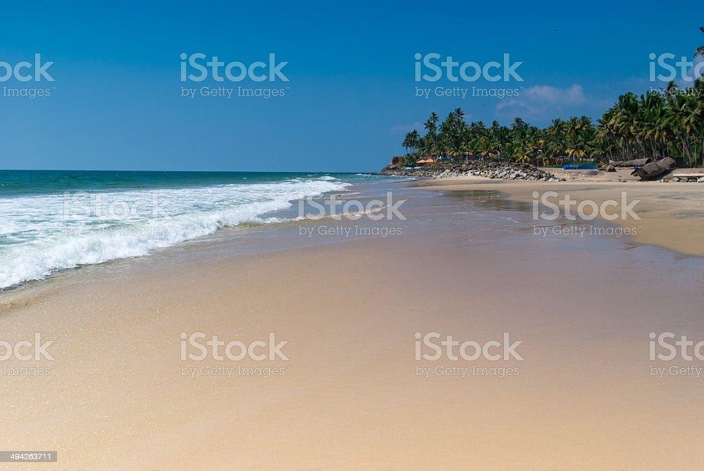 Incredible indian beaches,  Varkala. Kerala, India stock photo