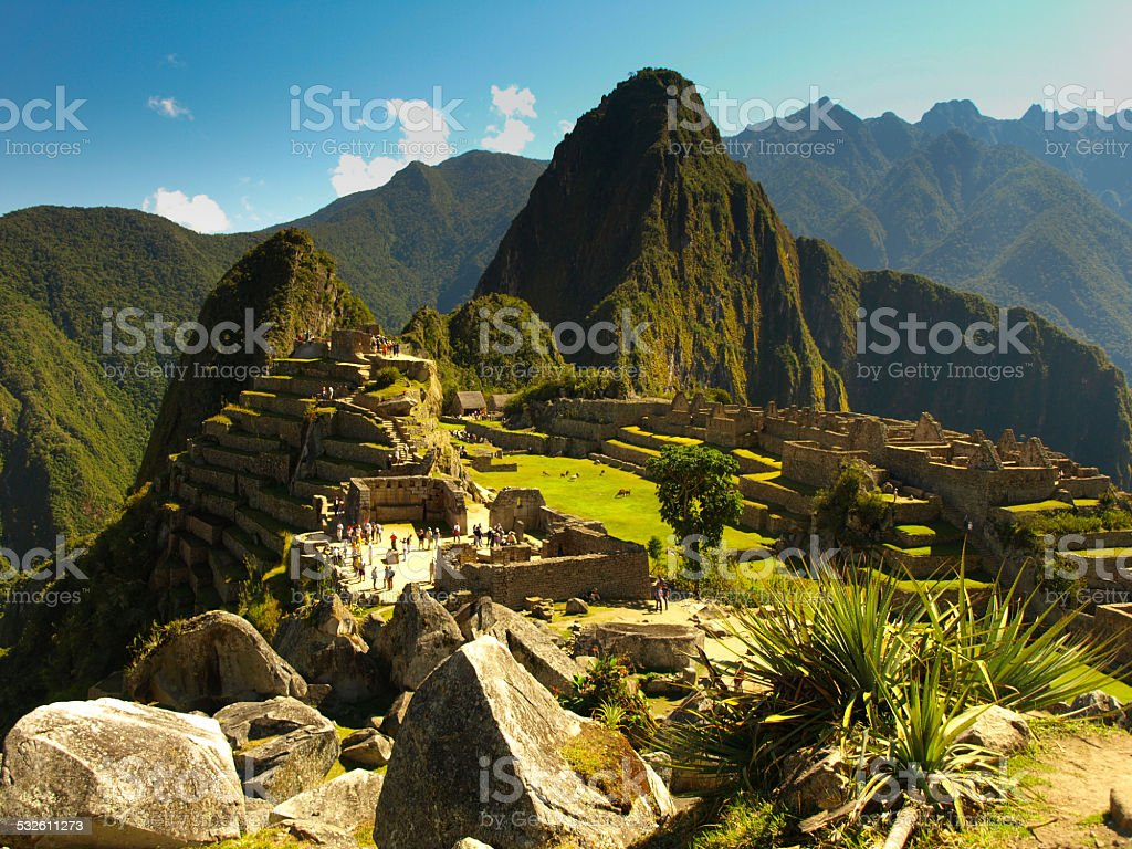 Incredible Machu Picchu stock photo