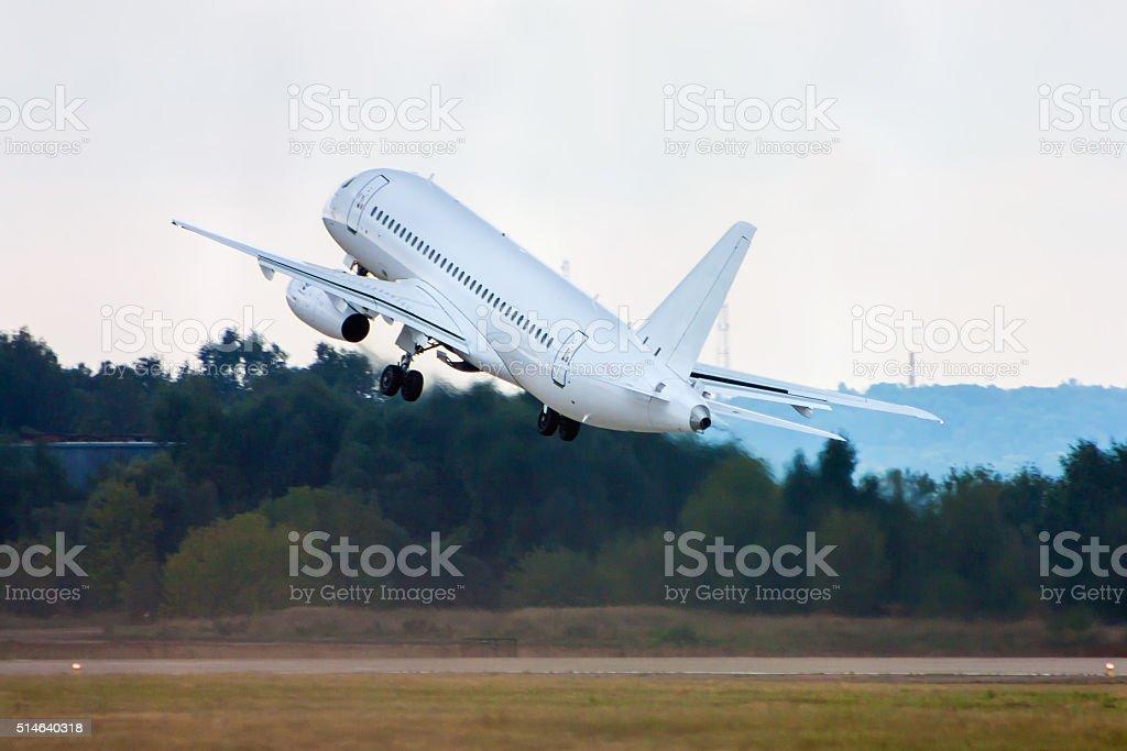 Невероятные Возьмите Выкл. пассажирских самолетов стоковое фото