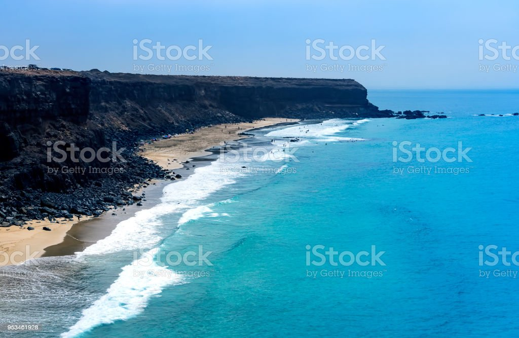 Incredible view at the coastside of Lanzarote. Canary Islands. Spain - foto stock