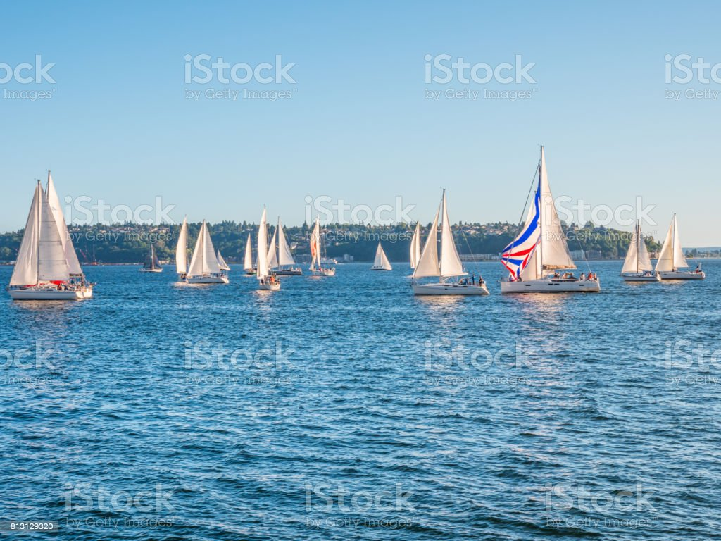 Incredible yacht show. stock photo