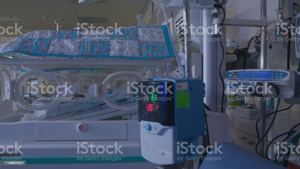 Incubator for prematurely born infants in the intensive care unit of...