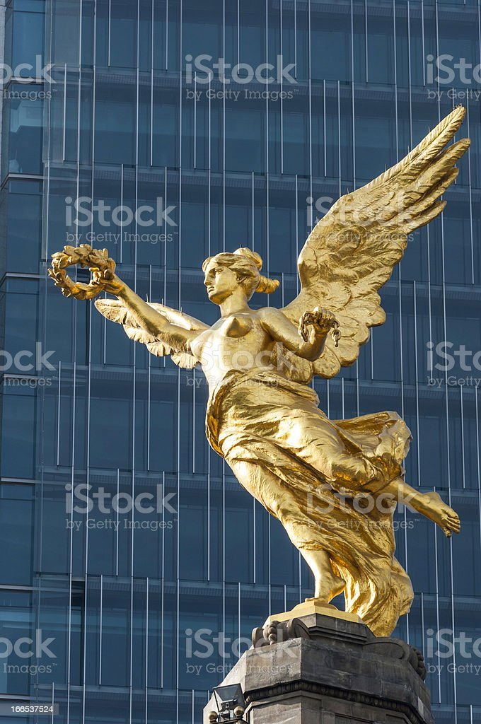 Independence Angel, symbol of Mexico City stock photo