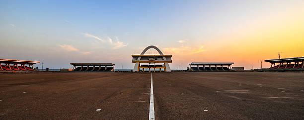 Independence Arch, Accra, Ghana stock photo