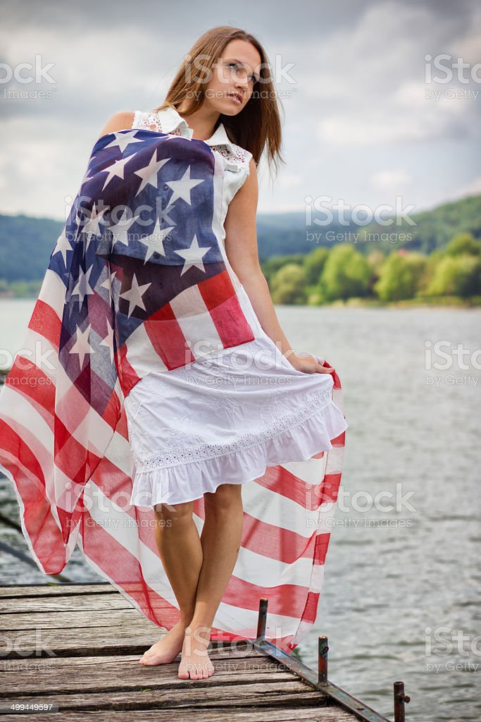 Independence beauty stock photo