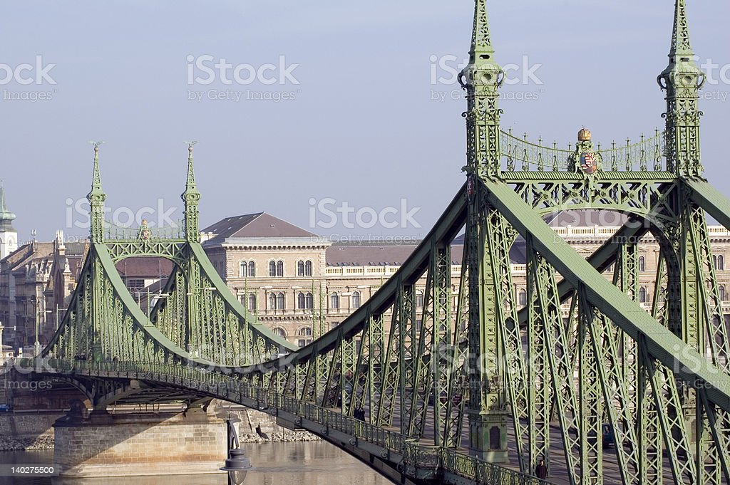Independence Bridge, Budapest, Hungary royalty-free stock photo